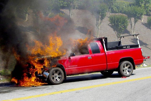 Baldridge truck wreck fire
