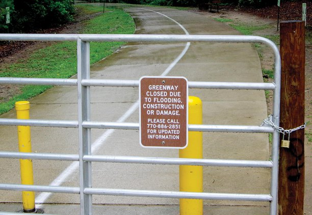 Greenway closed