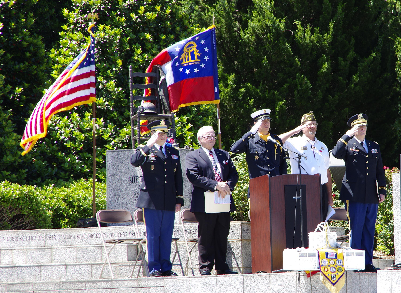 Honor Guard presents colors