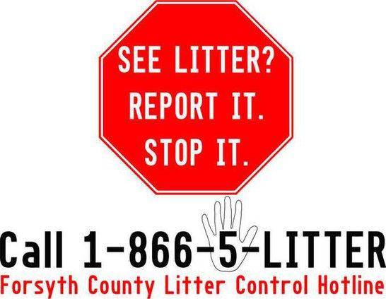 Forsyth County Litter Control Hotline Logo