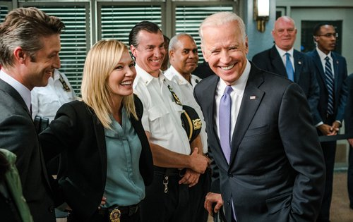 Kelli Giddish and Joe Biden