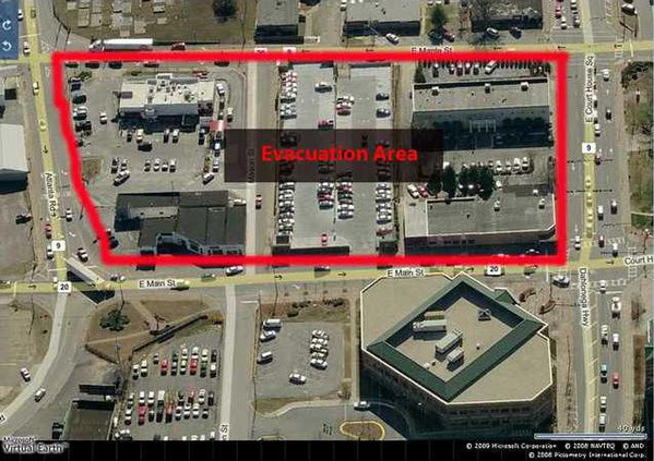 EVACUATION area map