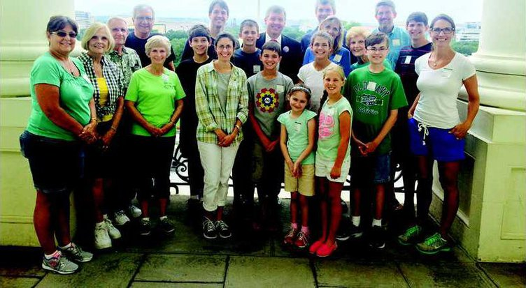 Insta-Braille- The Braille Boys  Annie with their families and U.S. Congressman Rob Woodall in D.C.