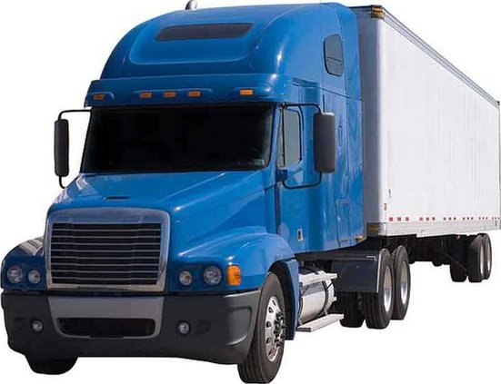 bigstock Blue Semi With Trailer 519524