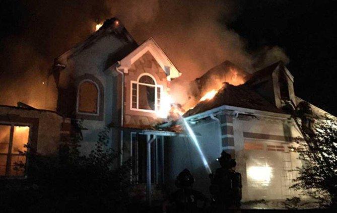 Harmony Church house fire web