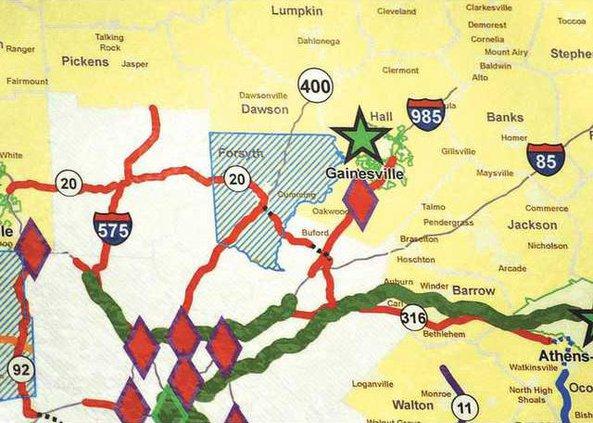 WEB Map closeup Forsyth