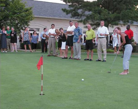 ball drop putting contest