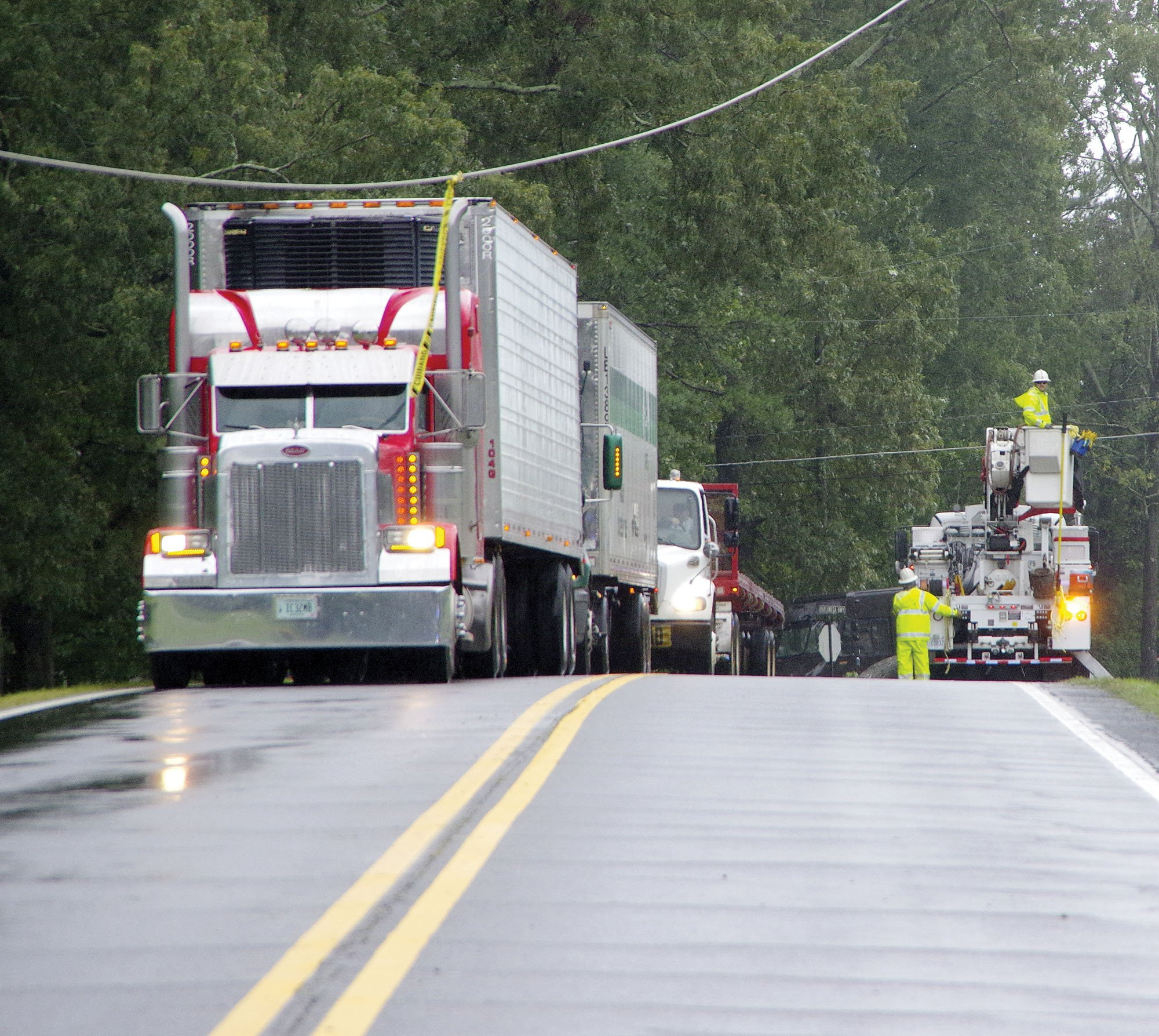 Dahlonega Highway was blocked on Tuesday