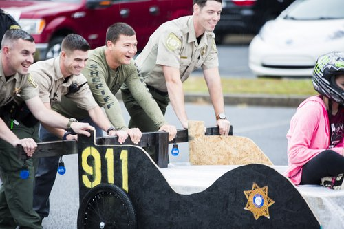 Bed race sheriff