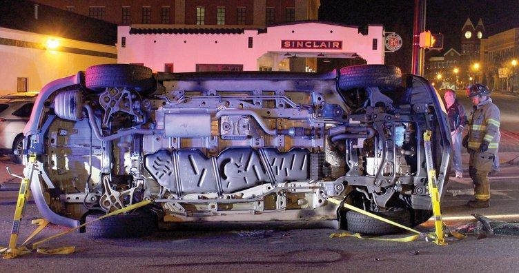 One vehicle overturned on Atlanta Rd. Monday night.