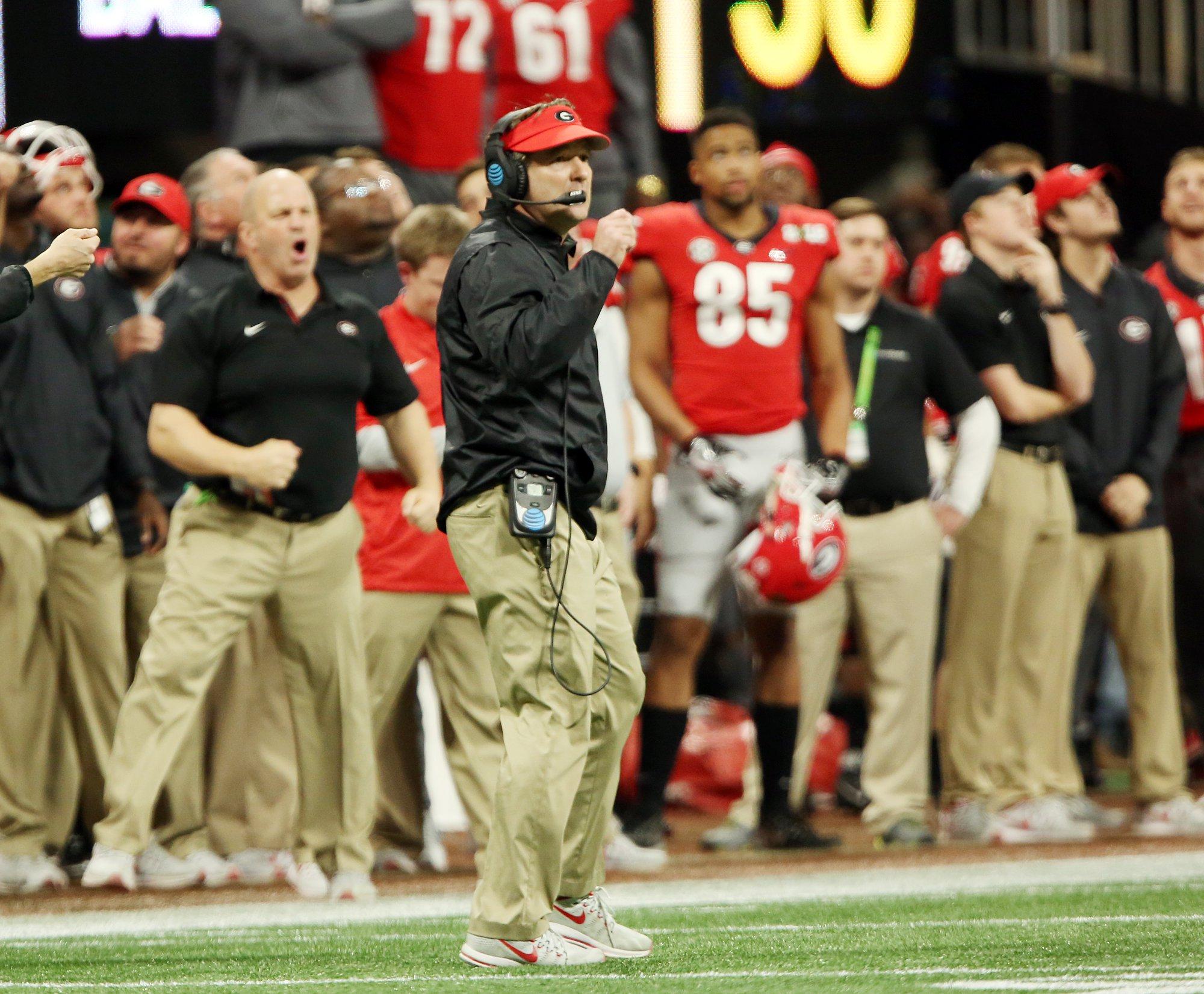 Georgia head coach Kirby Smart