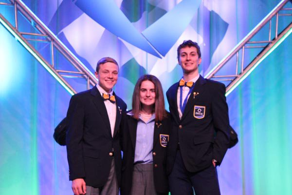 executive officers of the Georgia DECA chapter