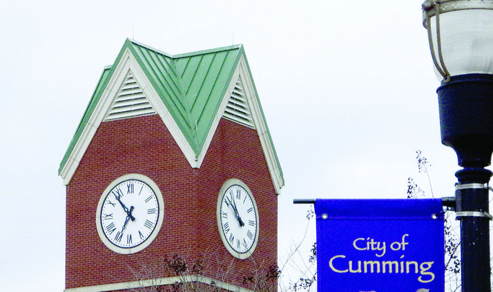 City hall clock