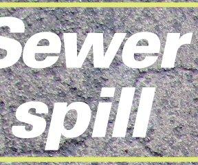 Sewer spill