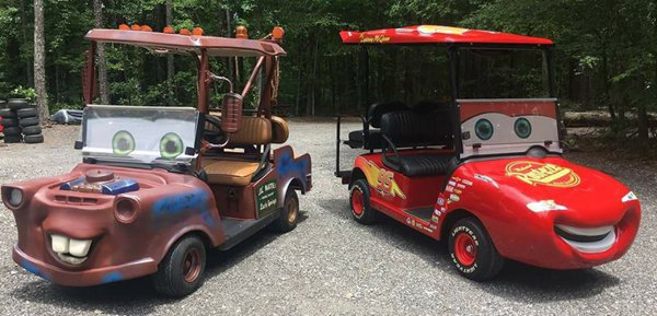 'Cars' golf carts