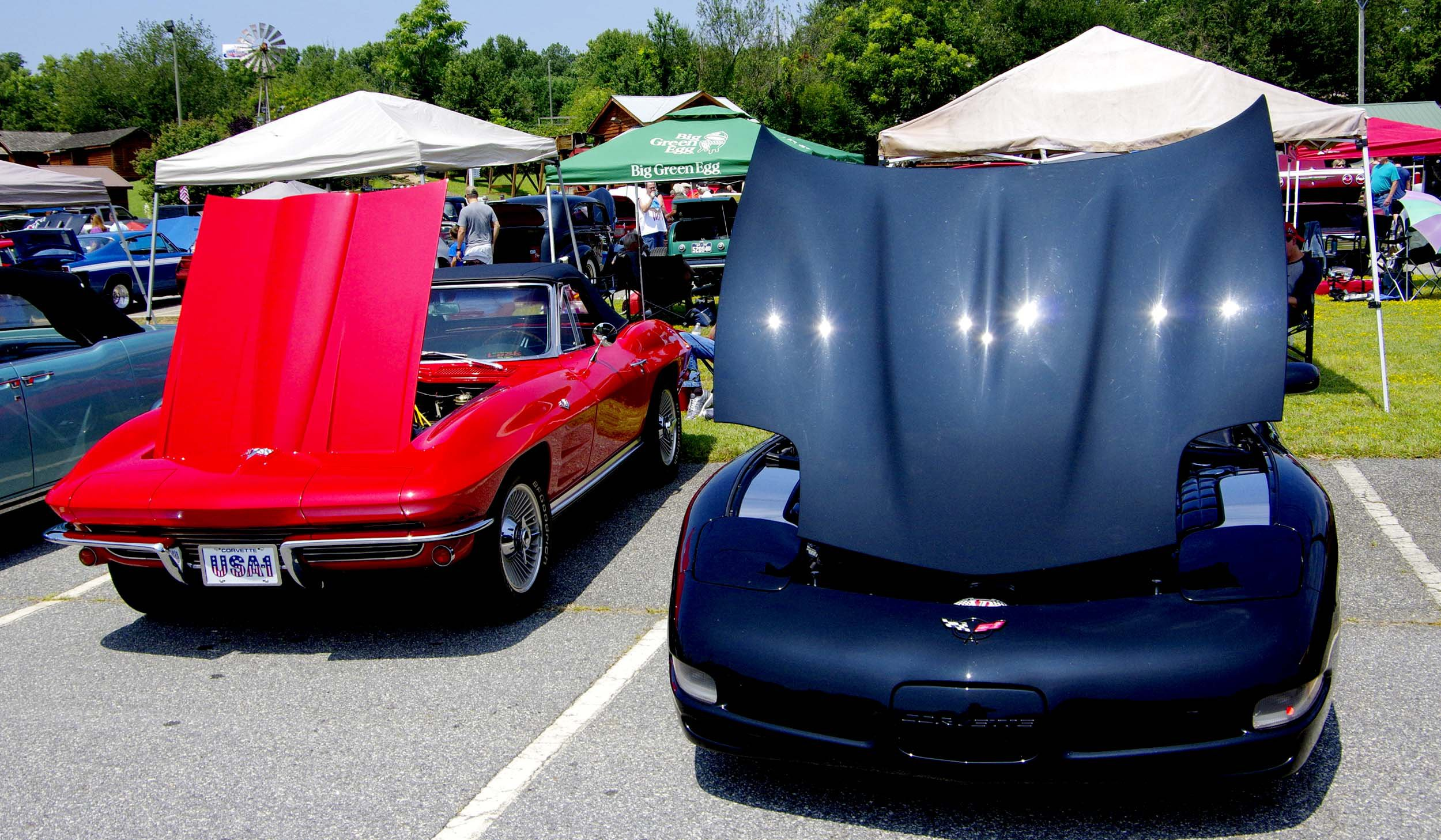Corvettes old and new