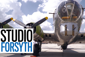"""Studio Forsyth:  Take a ride in a historical B-17 """"Flying Fortress"""""""