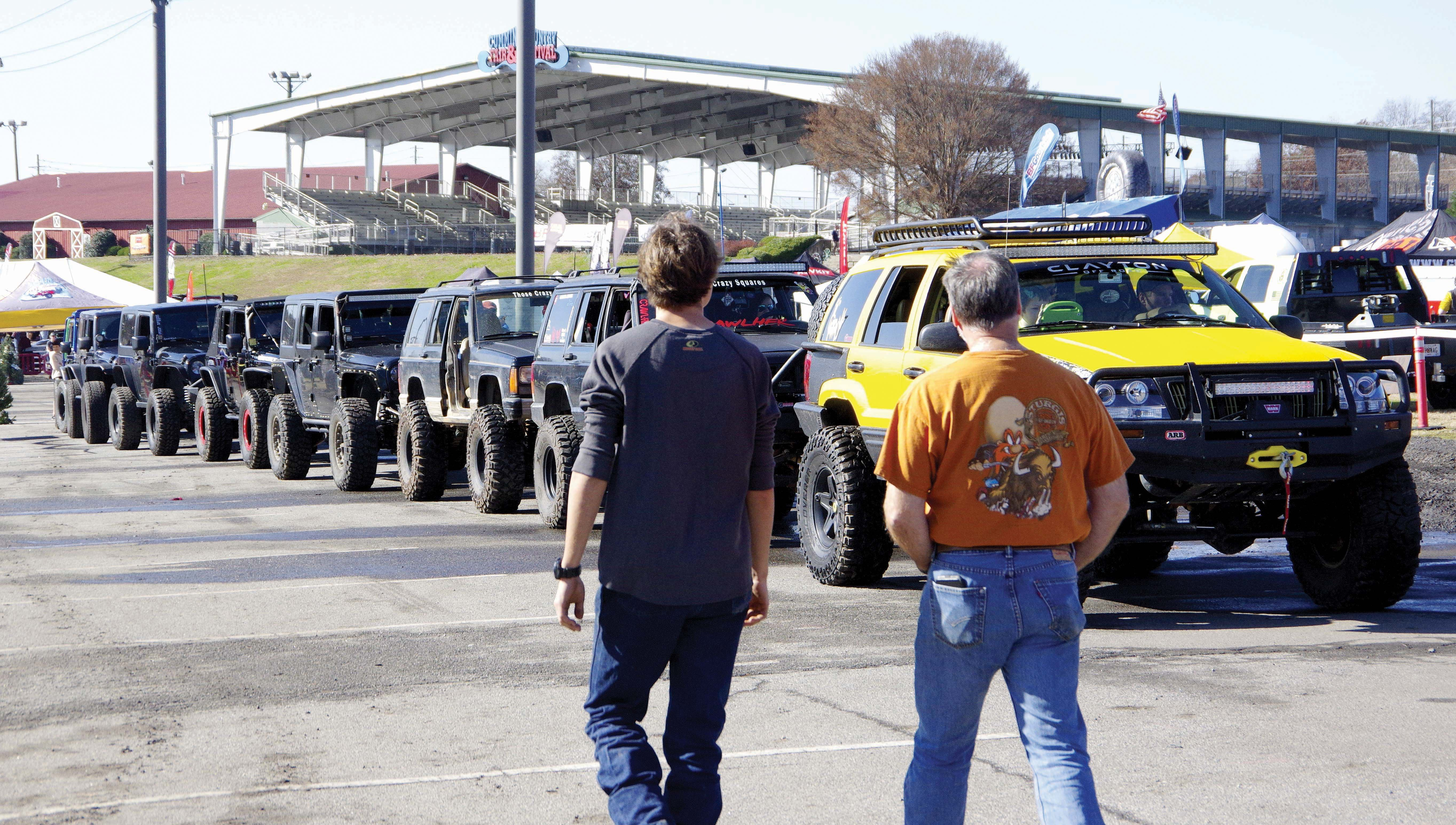 4x4s line up for the suspension test.jpg