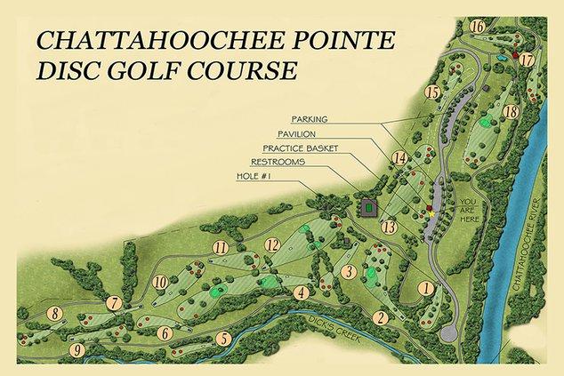 Chattahoochee Pointe Disc Golf Course Map 030619