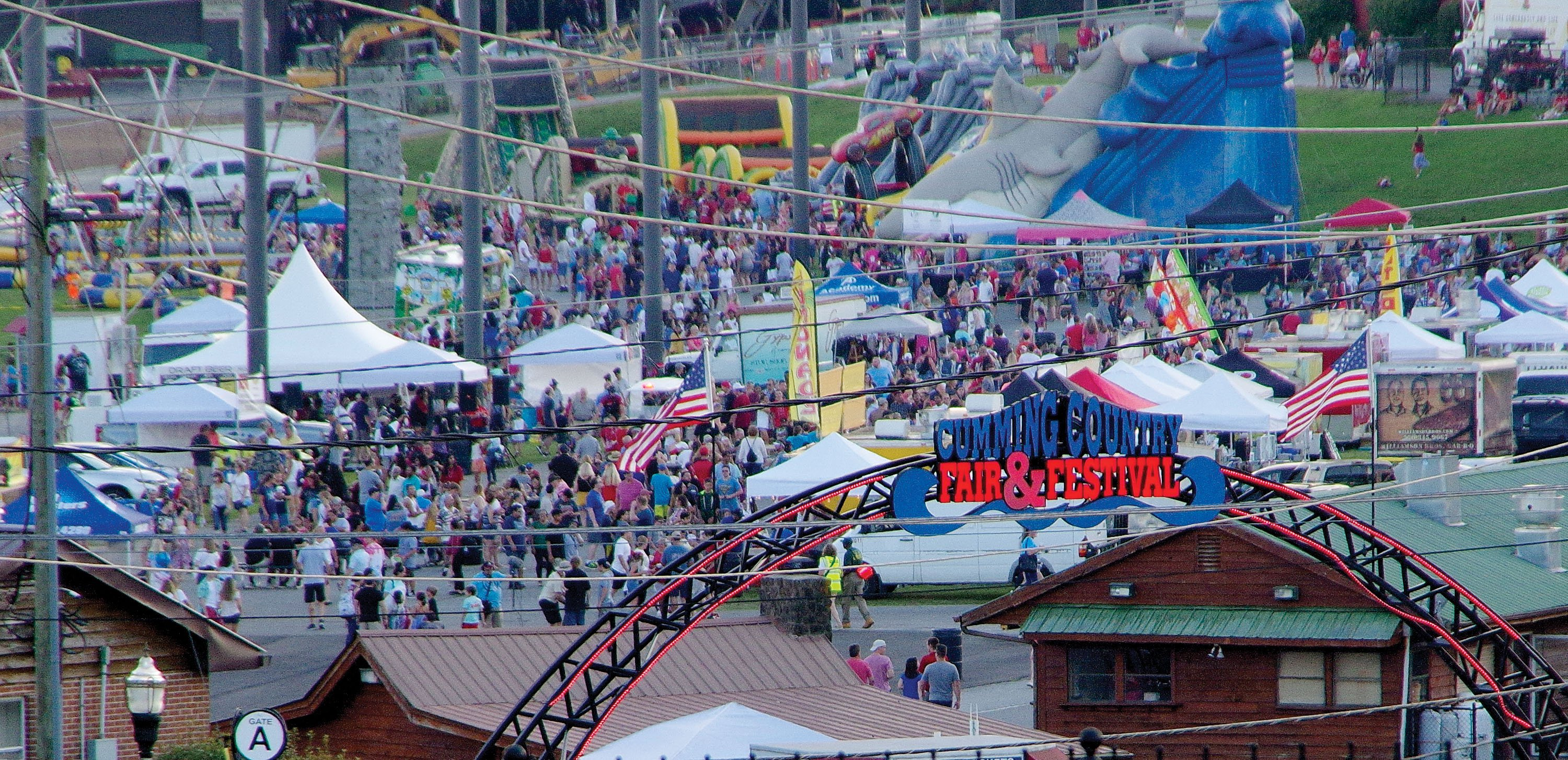 The Fairgrounds was busy all day