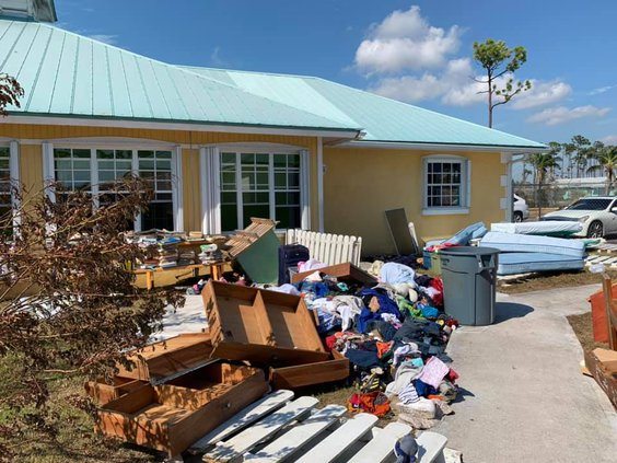 Bahamas home damage