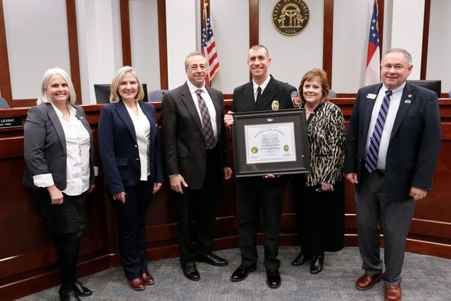 Jason Shivers National Certification of Executive Fire Officer recognition