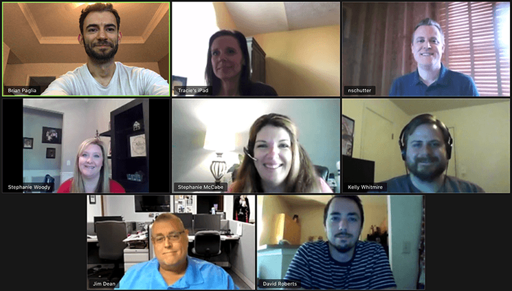 FCN employees on Zoom