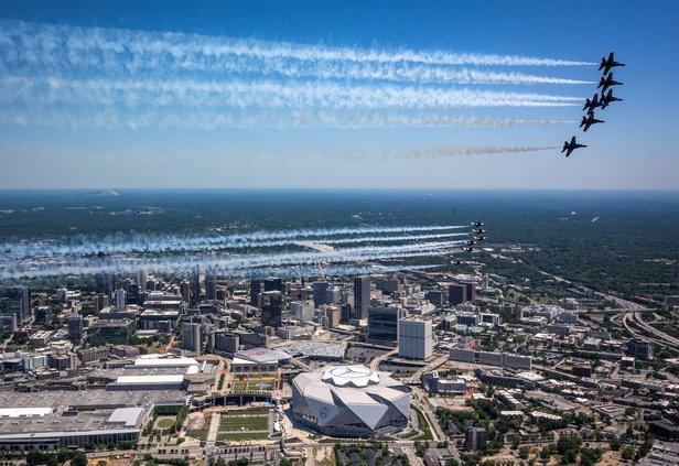 USAF flyover