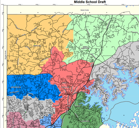 Middle School Redistricting Map