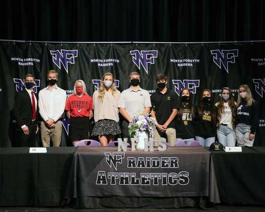 North Forsyth sends 10 seniors to play in college