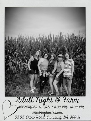 adult night at the farm