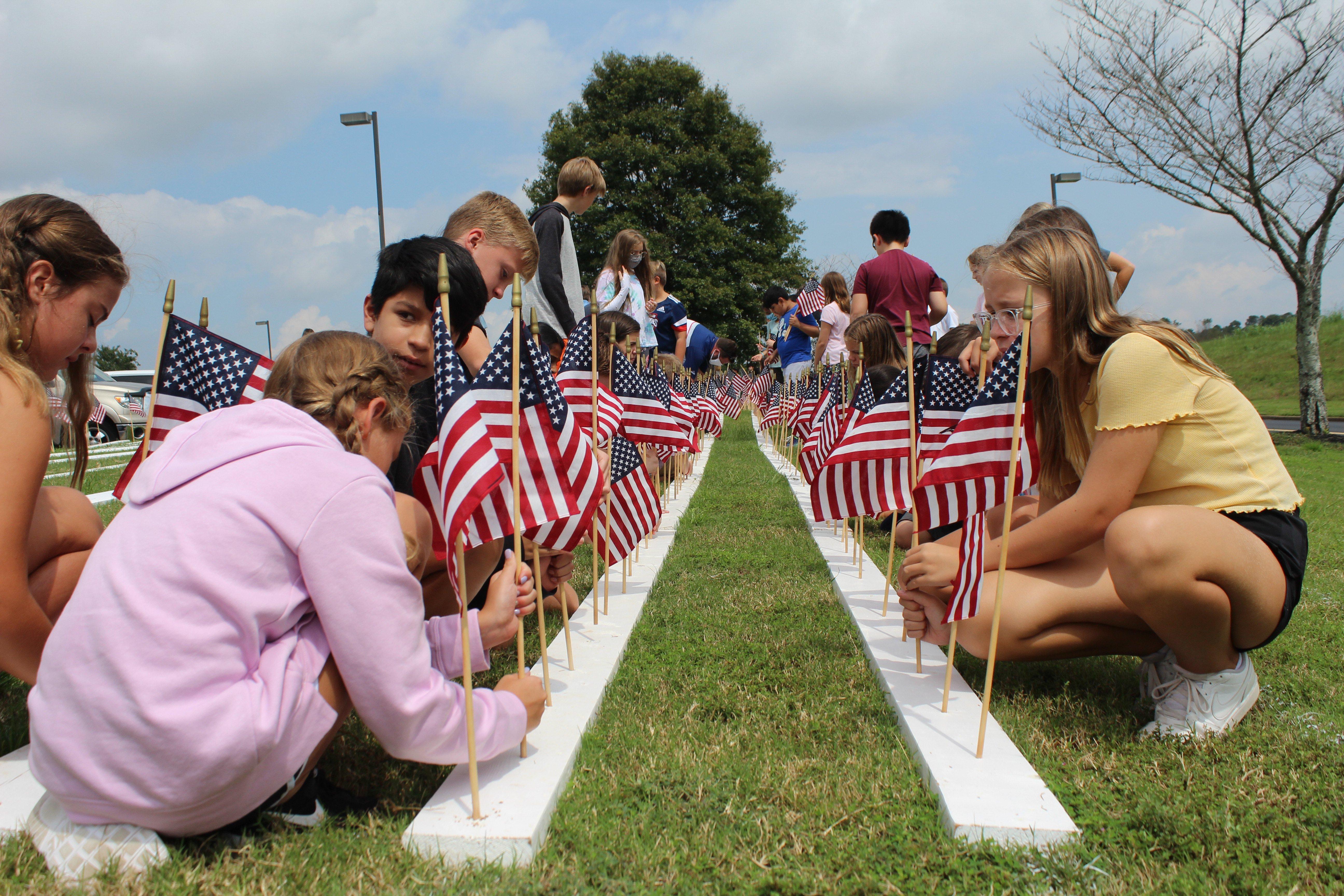 Liberty 9/11 flags